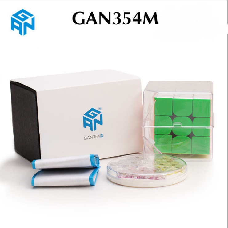Newest Original Gan354M 3x3x3 Magnetic Cube Gans 3x3x3 magic Cube Professional GAN 354 M 3x3 Speed Cube Twist Educational Toys-in Magic Cubes from Toys & Hobbies    1