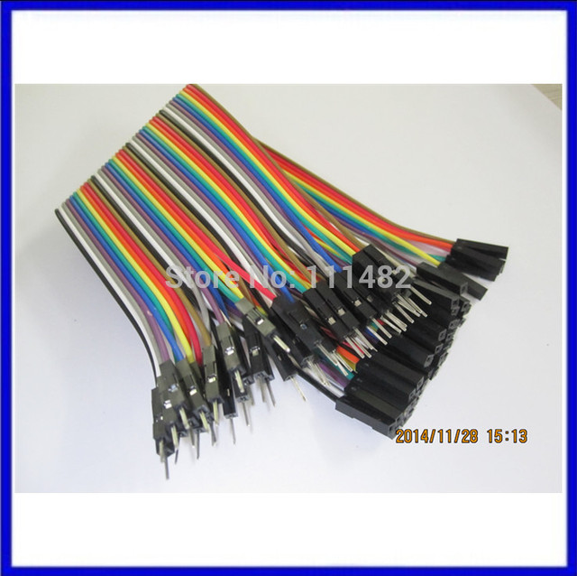 NEW 40pcs/1ROW, 20cm 1p-1p female to male jumper wire Dupont cable for  Breadboard