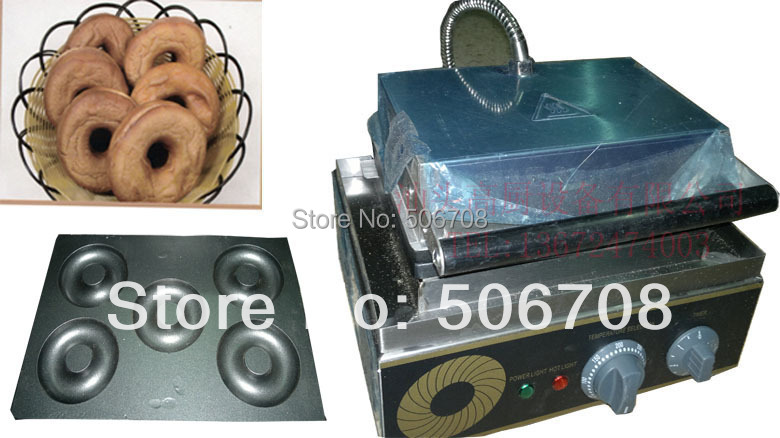 Good quality with CE 110v 220v Electric 5 pcs Sweet duonts machine waffle machine Doughnut Maker