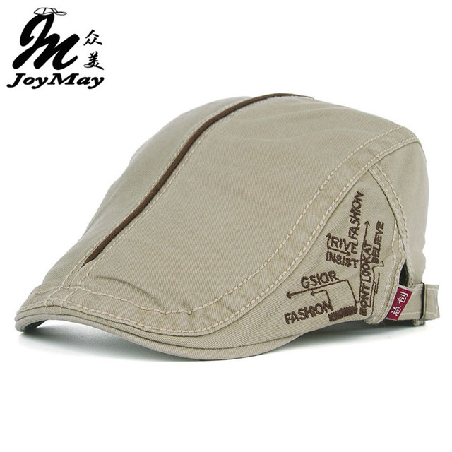 75e8545d62d JOYMAY New Summer Cotton Berets Caps For Men Casual Peaked Caps Middle line  letter embroidery Berets Hats Cap Y008