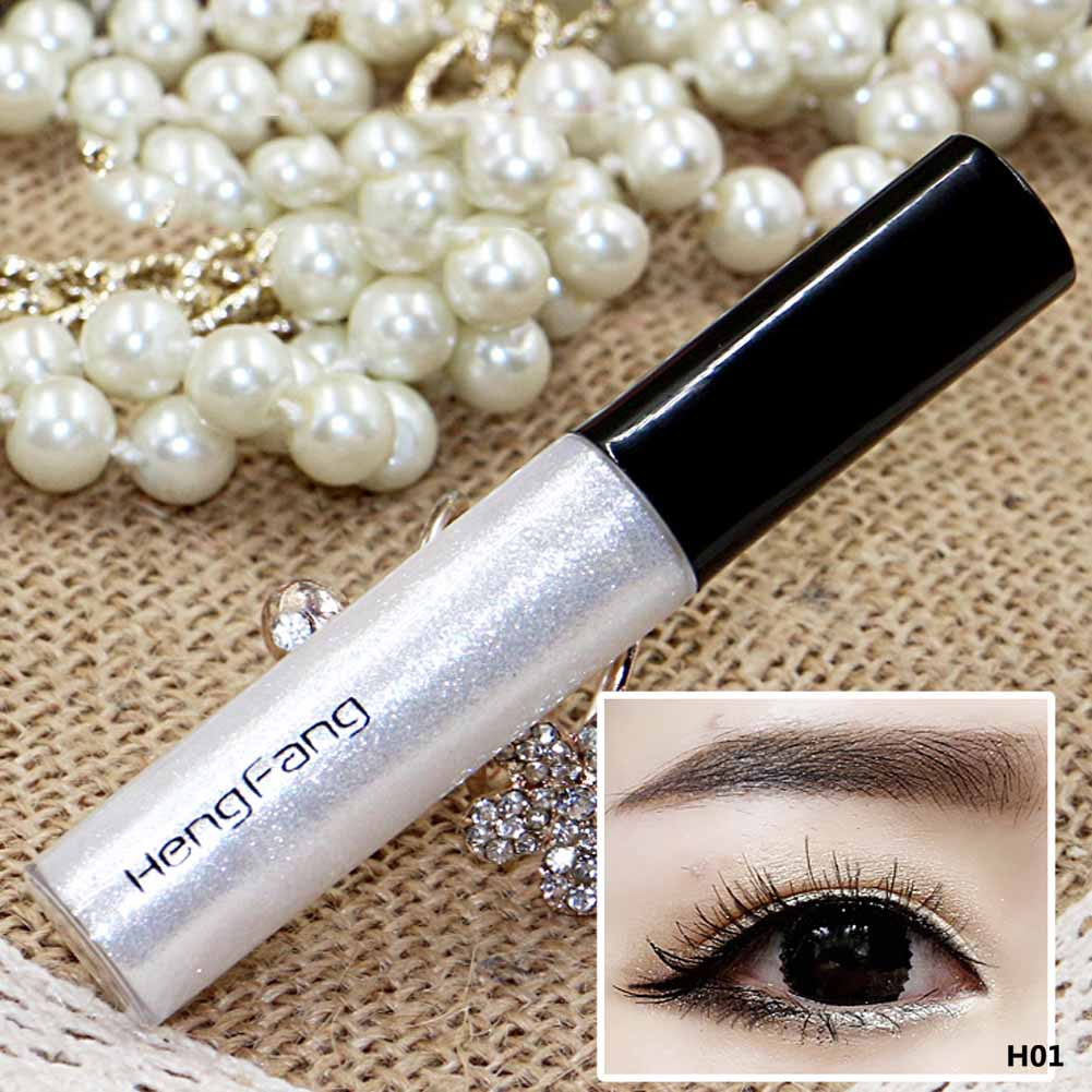 2018 Hot Color Pencils Eye Liner Makeup Natural Waterproof Shimmer White Gold Silver Make Up Liquid Shining Glitter Eyeliner
