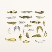 Charms For Jewelry Making Angel Clouds Wings Connection  Accessories Parts Creative Handmade Birthday Gifts vintage metal mixed angel wings charms diy handmade classic accessories fashion charms for jewelry making 100pieces lot