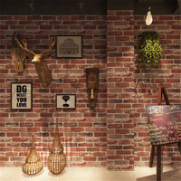 Rustic Vintage Style 3D Faux Brick Wallpaper Roll Vinyl Old Stone Wall Paper For Restaurant Cafe Decor Papel pintado