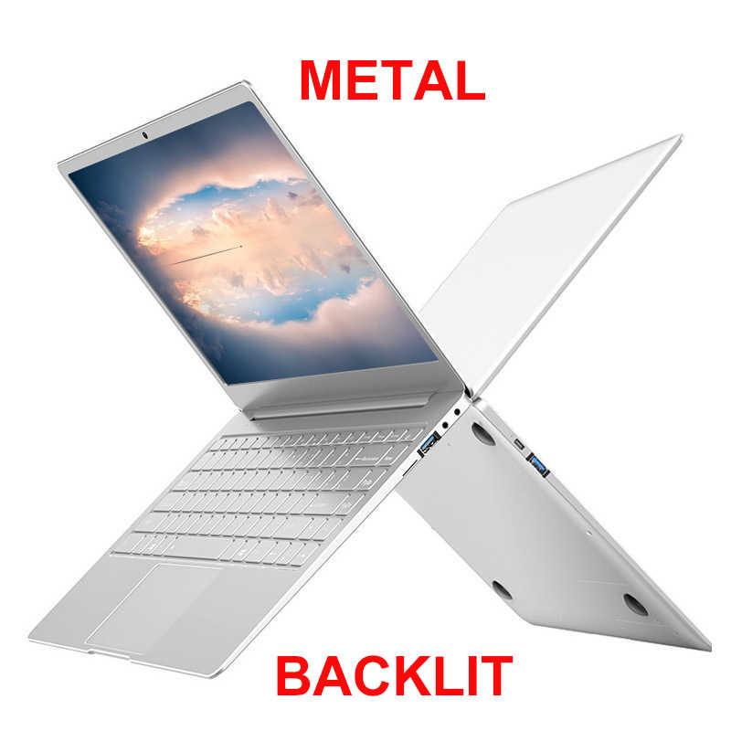 المعادن الجسم 13.3/14 بوصة مع الخلفية لوحة المفاتيح الألعاب المحمول 8G RAM 1 تيرا بايت 512G 256G 128G M.2 SSD دفتر الكمبيوتر IPS FHD نتبووك