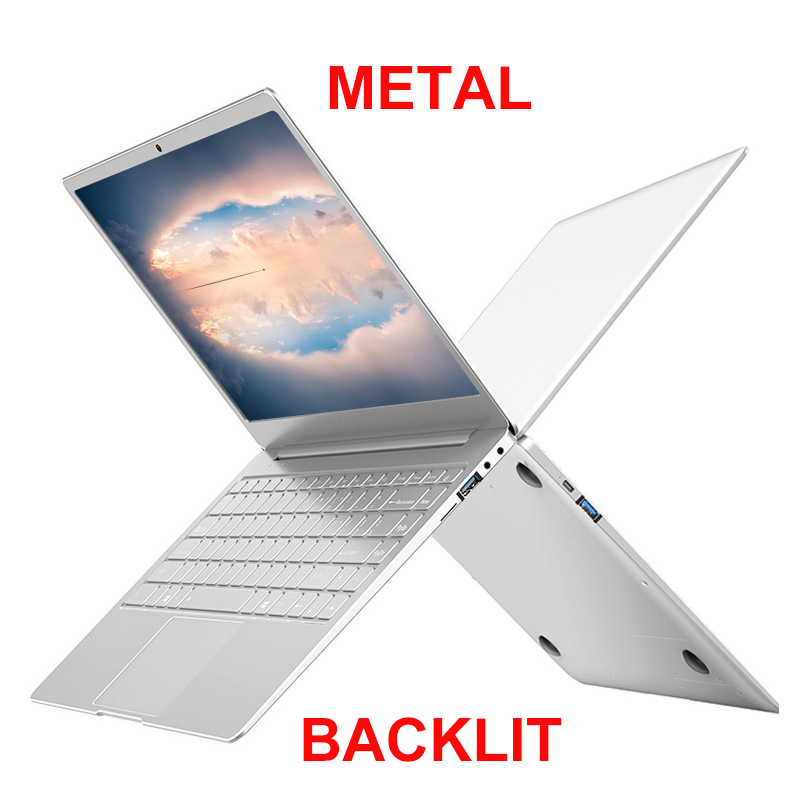 Notebook Computer Laptop Keyboard Gaming SSD Metal IPS Body-13.3/14inch 256G with Backlit title=