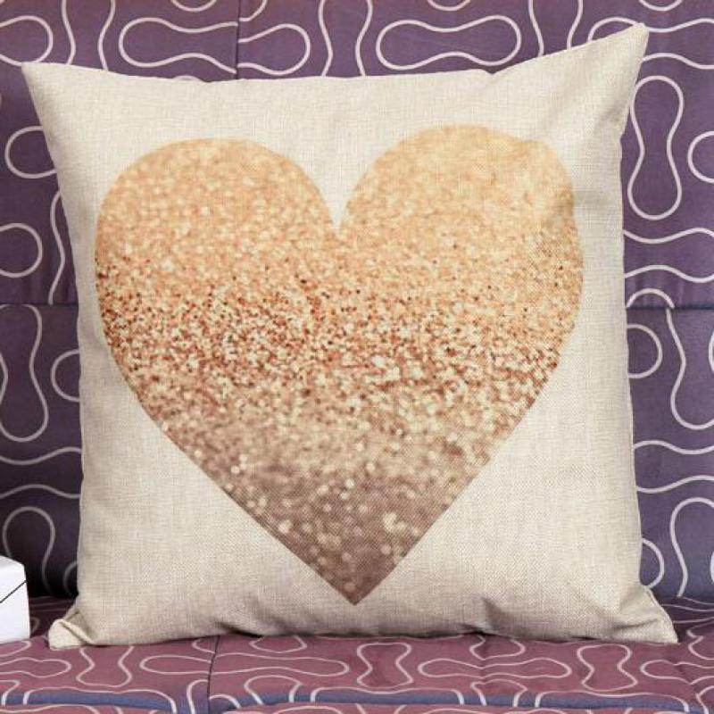 Free Shipping Customized Simple Style Heart Shaped Linen