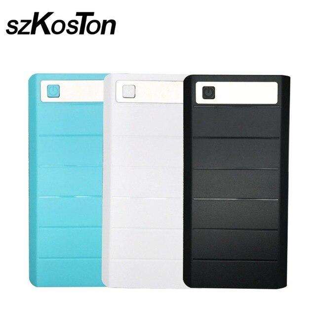 DIY 8x18650 чехол для внешнего аккумулятора, держатель для аккумулятора, зарядное устройство с цифровым дисплеем трубки для iPhone Samsung, два порта USB и Type C