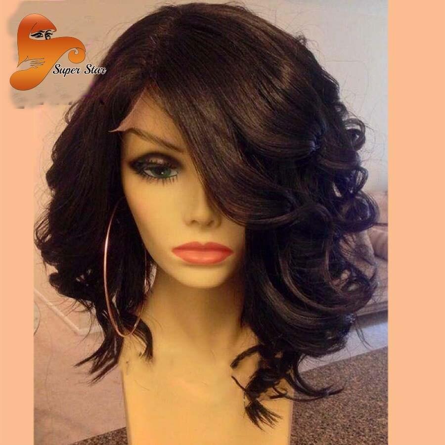 Wet Wavy Brazilian Full Lace Human Hair Wigs For Black