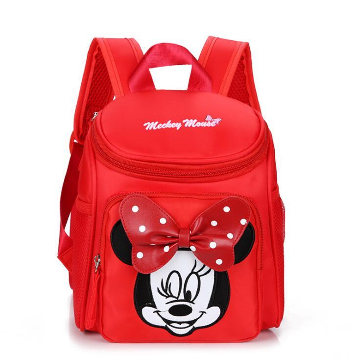 Niños de la historieta de Minnie bolsas escuela 2018 niños Pony mochila impermeable mochilas mochila para niños y niñas