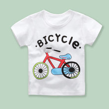 Summer Boys Girls T Shirts Toddler Kid Cartoon Print T Shirts Children Clothing Baby Boys Casual Cotton T Shirts Tee Tops 18M-7Y(China)