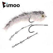 Bimoo 4 conjuntos articulados haste de peixe streamer voar amarrando haste pique mosca amarrando tamanho material padrão longo