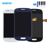 100 Tested Black White Blue For Samsung Galaxy S3 Mini I8190 LCD Display Glass Panel Touch
