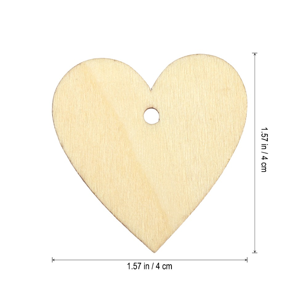 25tk 40mm tühi süda puidu viilud kettad puidust rattad DIY pulm - Pühad ja peod - Foto 3