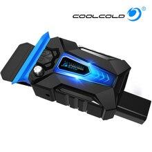 COOLCOLD портативный ноутбук охладитель USB воздуха внешняя извлечение охлаждающая подставка вентилятор для ноутбука скорость регулируется для 15-17 дюймов