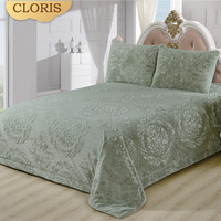 CLORIS Moscow Sent High Quality Quilted Bedspread On Bed Twin Bed Bedspreads King Queen Size Quilted Bedspread Double Pillowcase