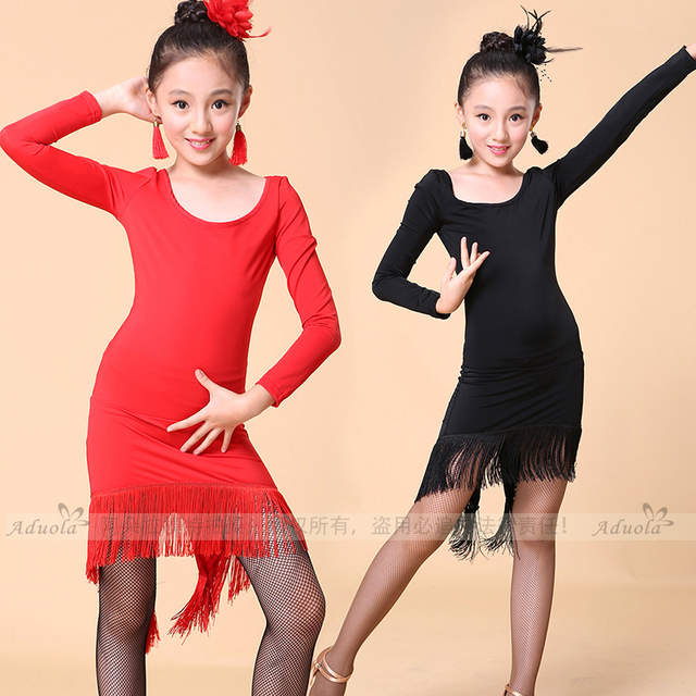 0b8a4b344b7 placeholder Plus Size Sexy Dress Robe Danse Latine Femme Junior Latin  Dresses Dance Costumes For Kids Girl