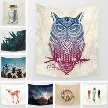 Owl Mandala Tapestry Bohemia Wall Carpet Soft Blanket Tapestries Boho Bedspread Yoga Mat Table Cloth 130x150 150x200cm