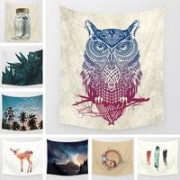 Owl Mandala Tapestry Bohemia Wall Carpet Soft Wall Blanket Tapestries Boho Bedspread Yoga Mat Table Cloth 130x150 150x200cm