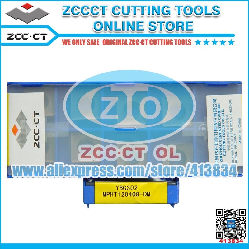 50pcs ZCCCT milling cutter MPHT120408 DM YBG302 MPHT120408 MPHT1204 MPHT12 ZCC inserts MPHT ZCC CT carbide