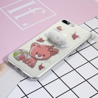 Squishy Case for Apple iPhone 7 Plus Case Cute 3D Silicone Pinch Kitty TPU Phone Cover for Apple iPhone 7 Plus Coque Shells