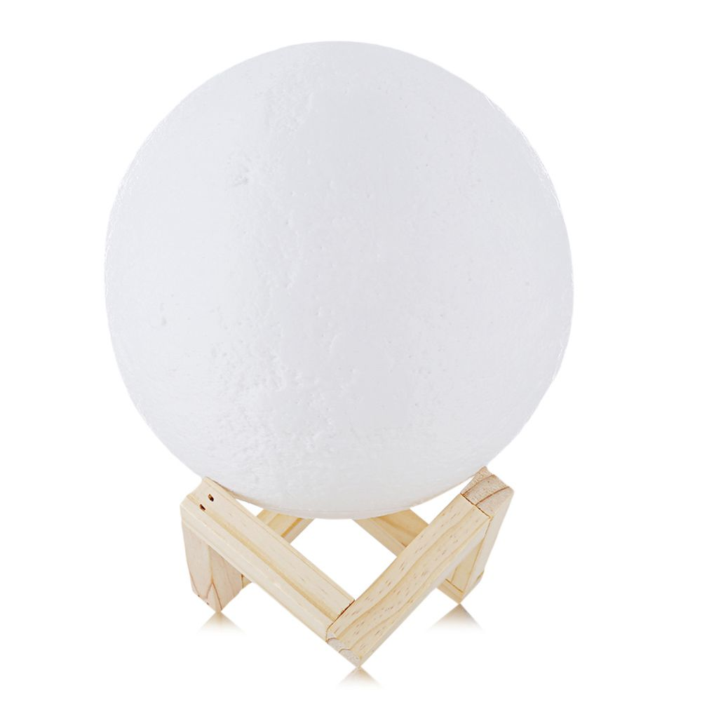 USB Rechargeable 3D Print Moon Lamp 2 Color Change Touch Switch Bedroom Bookcase Night Light Home Decor Creative Gift