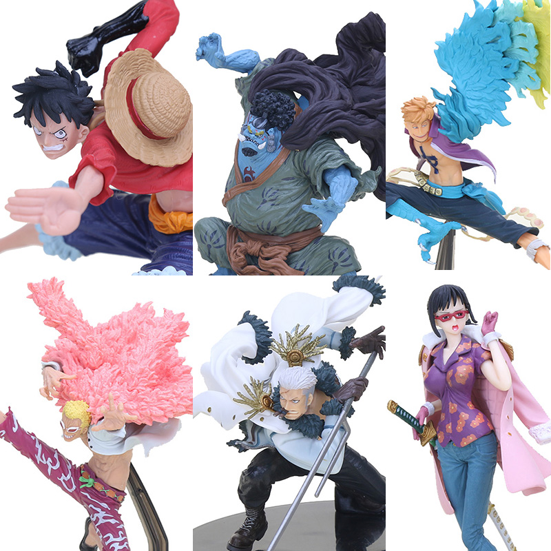 Luffy Smoker Tashigi Doflamingo Marco Jinbe Anime Toys Decoration Wx293 Excellent In Quality One Piece Pvc Action Figures Collection Model Monkey D