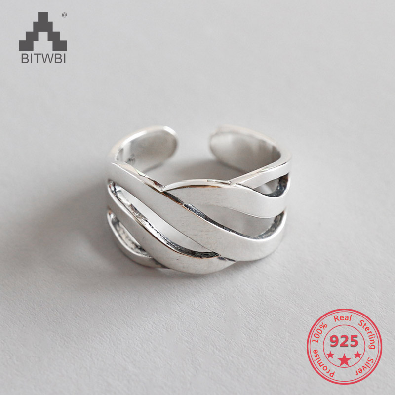 925 Sterling Silver Jewelry Wave Rings for Women Wedding Rings Jewelry Fashion Open Adjustable Finger Ring 925 Sterling Silver Jewelry Wave Rings for Women Wedding Rings Jewelry Fashion Open Adjustable Finger Ring
