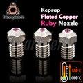 Trianglelab T-V6 медь красный распылитель Reprap v6 hotend ультра высокая температура совместим с PETG ABS PEI PEEK нейлон