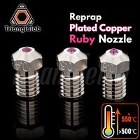 trianglelab T V6 Plated Copper ruby nozzle Reprap v6 hotend Ultra high temperature Compatible with PETG ABS PEI PEEK NYLON