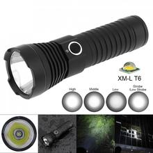 TC16 10W Waterproof Super Bright LED Flashlight XMK T6 1100 Lumens Aluminum Alloy with 5 Modes Light,by Rechargeable Battery