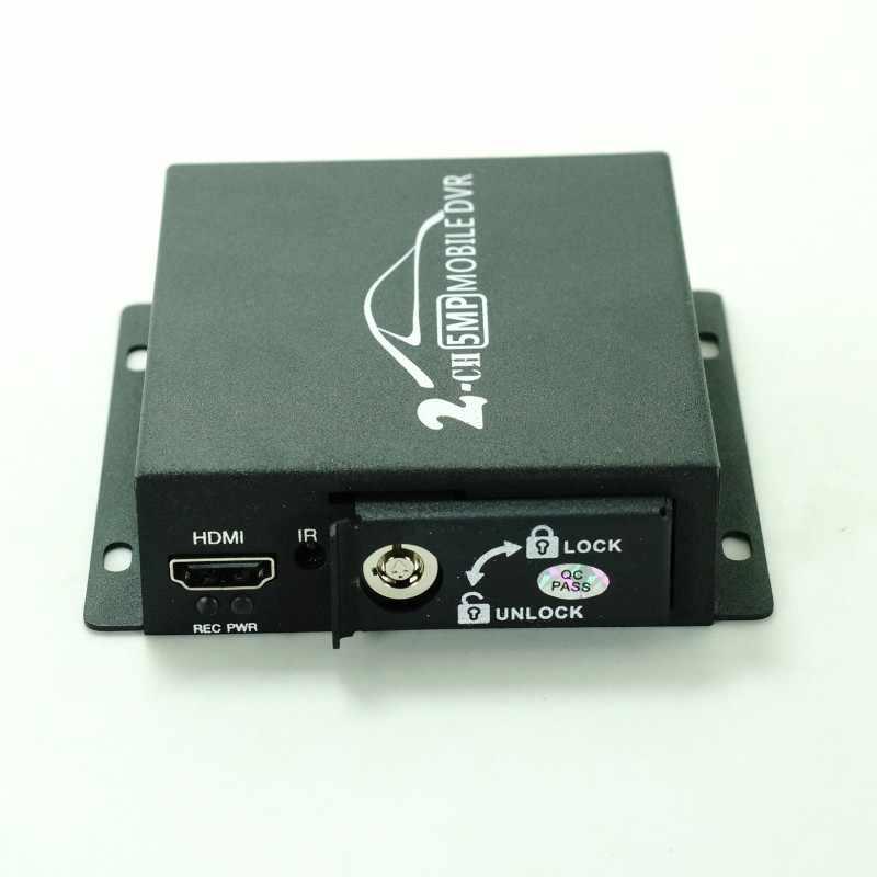 2018 новые 2ch мини AHD DVR мобильный видеорегистратор Поддержка CVBS/AHD 5.0MP/dual-SD карта HD 1080P 2 канальный автомобильный DVR по шине CAN с пультом дистанционного управления