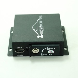 Image 4 - Mini DVR móvil de 2 canales, compatible con CVBS/AHD 5.0MP/tarjeta dual SD HD 2018 P, 2 canales, vehículo, autobús, DVR, con control remoto, novedad de 1080