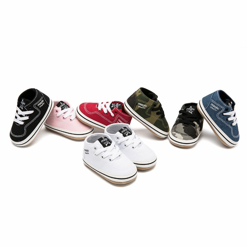 Fashion Baby Toddler Shoes PU Girls Boys Candy Color Sneakers First Walkers Army Green Shoes Newborn Baby Shoes 3-12M