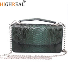 Designer Bag Genuine Leather Women Small Chain Shoulder Clutch Lady Crossbody Bag Purse Fashion Serpentine Female Messenger Bag