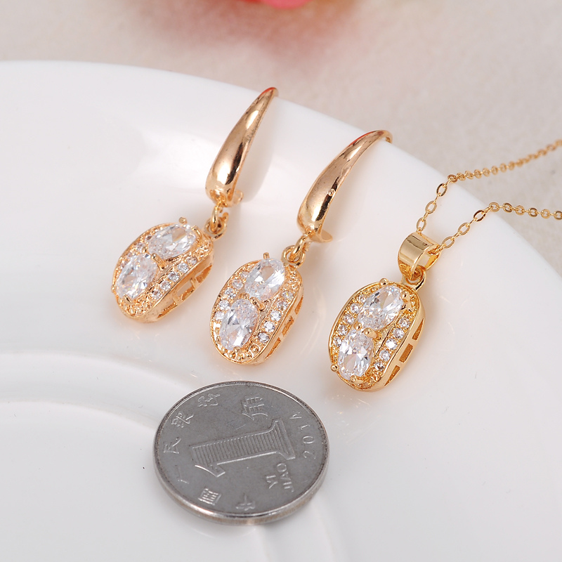 2017 Dubai Italian Designers Jewelry Sets Woman Jevelri Zircon Necklace Earrings Online Artificial Jewellery In From Accessories