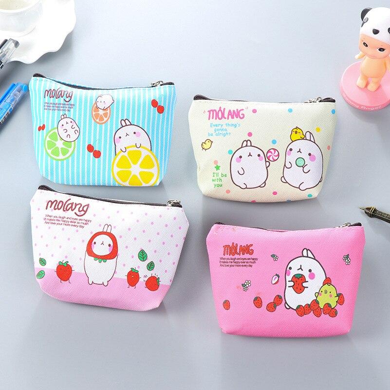 Cartoon Cute Pu Leather Coin Purse Wallet Women  Zipper Money Pocket  Card Holder Case Hot Sale