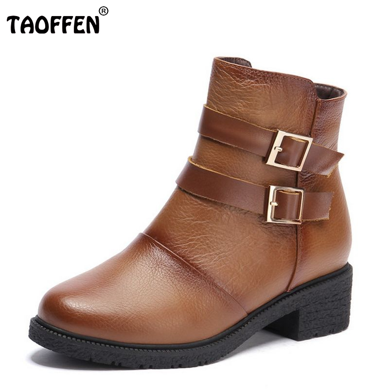 women real genuine leather round toe flat ankle boots woman half short botas autumn winter boot footwear shoes R7531 size 34-39 women boots plus size 35 43 genuine leather autumn winter ankle boots black wine red shoes woman brand fashion motorcycle boot