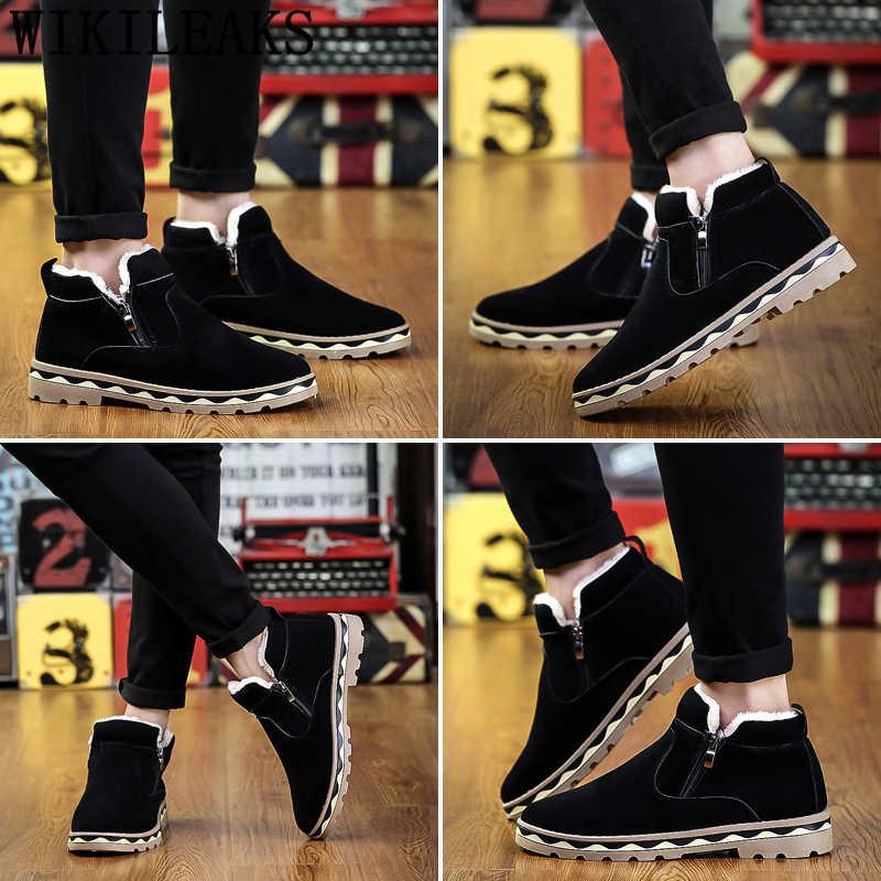 รองเท้าบู๊ตหิมะผู้ชายรองเท้าแบรนด์บุรุษเชลซีบู๊ทส์ฤดูหนาวรองเท้ารองเท้าแฟชั่นผู้ชายรองเท้าบูทรองเท้า tenis casual masculino erkek ayakkabi