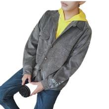 font b Men s b font Casual jackets 2017 cotton Retro Denim coats Corduroy Stand