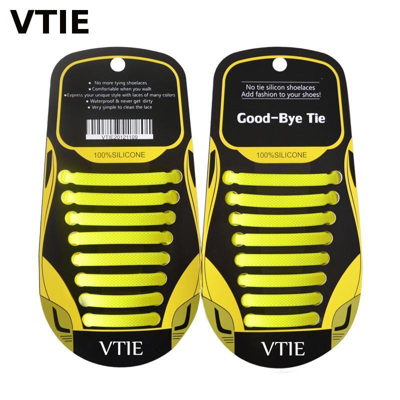 2017 New Lazy Silicone Shoe Lace No Tie Shoe Laces Elastic Shoelace Novelty Shoe Laces Silicone-shoelaces 16Pieces
