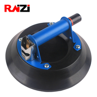 Raizi 10 Inch Rubber Vacuum Suction Cup Hand Pump Action Carrying Tool for Lifting Glass Stone