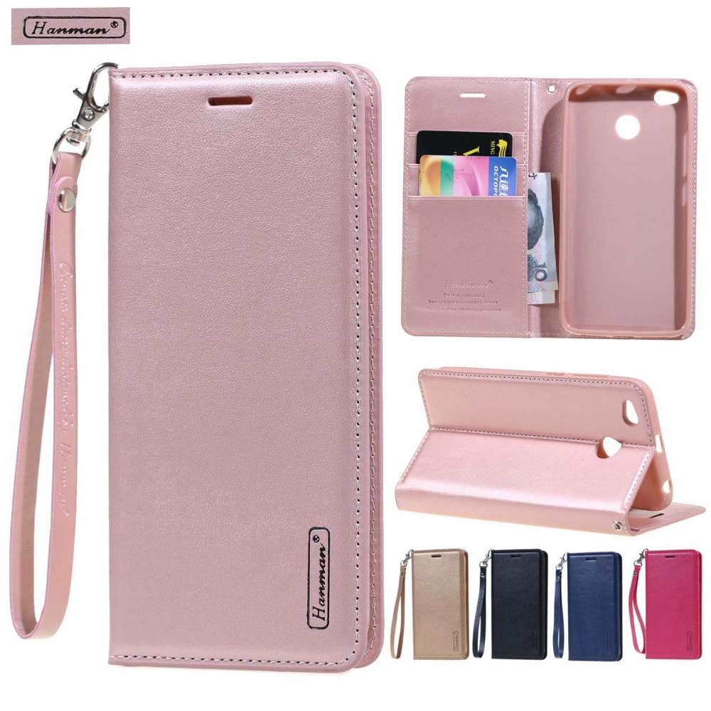 hanman luxury Leather Wallet flip cover case For Xiaomi 5x 6 max 2 coque funda xiaomi Redmi note 4 4X 5 pro plus pro 5a case