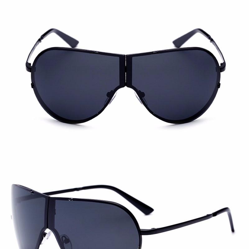 Lager Motorcycle Sunglassses Men Women Oversize Frameless Sunglasses Foldable Glasses Big Moto Goggles 8487 (2)