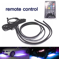 90/120cm Car RGB LED Strip Under Car Tube Underglow Underbody System Neon Light Kit 5050 SMD DC12V 6000K