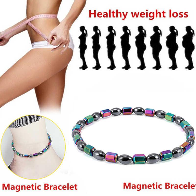 黒石磁気治療アンクレットマグネットアンクレット減量痩身ヘルスケアブレスレットファッションジュエリーギフト