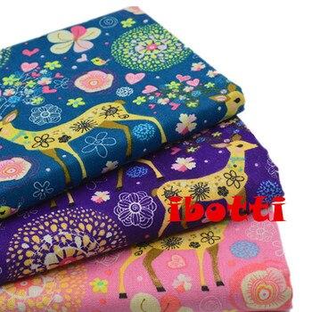 Rabatt 50150 Cm Weihnachten Hirsch Leinen Baumwolle Stoff Tissue
