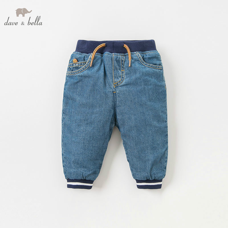 DB9217 dave bella winter baby boys pants children full length kids solid pants infant toddler trousers dba7845 dave bella autumn baby boys fashion jeans children full length kids denim pants infant toddler trousers