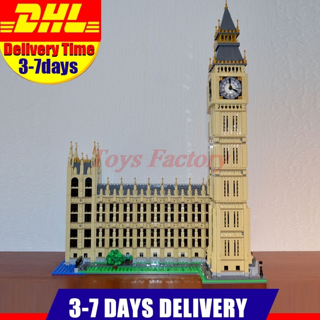 2018 New LEPIN 17005 4163Pcs City Street Big Ben Elizabeth Tower Model  Building Kit Set Blocks
