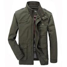 2f0ff09baff2d Jacket Men Causal Cotton Windbreaker Long Jackets Mens Military Outwear Flight  Jacket Plus size 7XL Men s