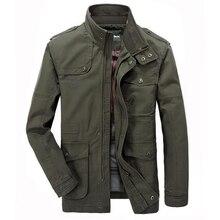 Veste hommes casual coton coupe vent longues vestes hommes militaire Outwear armée vêtements grande taille 6XL 7XL Trench poche manteaux